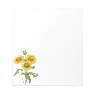 Vintage Floral Blanket Flower Sunflower by Redoute Notepad
