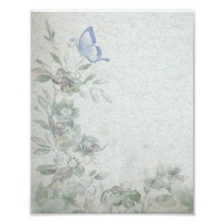 Vintage Floral Blue Photographic Print