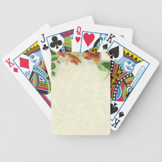 Vintage Floral border Customize Bicycle Playing Cards