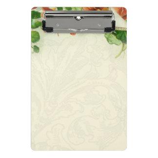 Vintage Floral border Customize Mini Clipboard