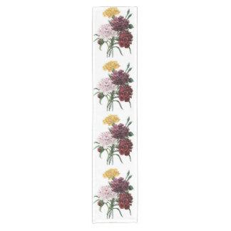 Vintage Floral Bouquet Short Table Runner