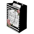 Vintage Floral Bridal Shower Customize The Colour Medium Gift Bag