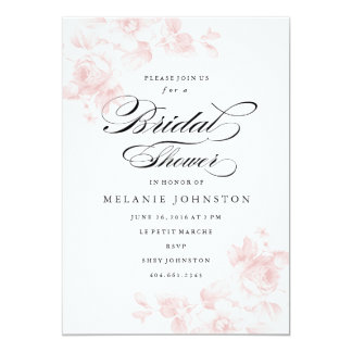 Vintage floral | Bridal Shower Invitation