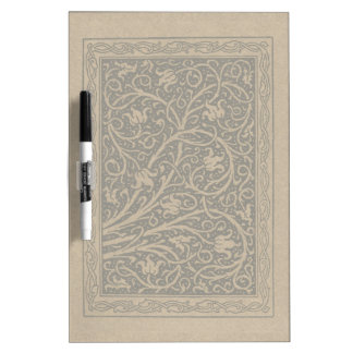 Vintage Floral Brown Swirls Dry-Erase Boards