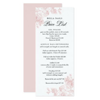 Vintage floral | Business Price List Card