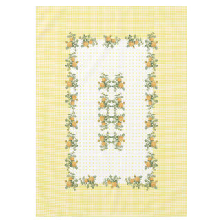 "Vintage floral, checkered &dots tablecloth 60""x84"""