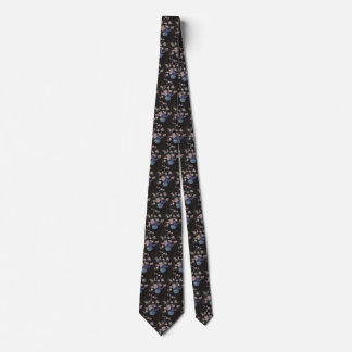 Vintage Floral, Cherry Blossoms Flowers in a Vase Tie