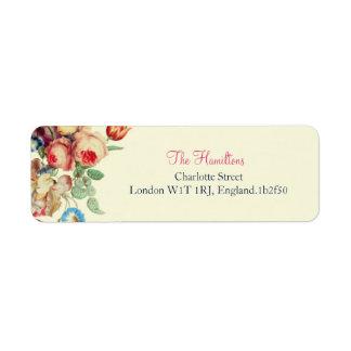 Vintage Floral Chic Wedding Return Address Labels