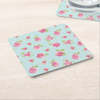 Vintage Floral Coaster Shabby Chic Roses