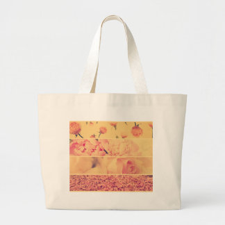 Vintage floral collage photos of loveliness style bag
