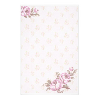 Vintage Floral Customized Stationery