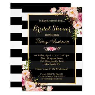 """Vintage Floral Decor for Wedding Bridal Shower 5"""" X 7"""" Invitation Card"""