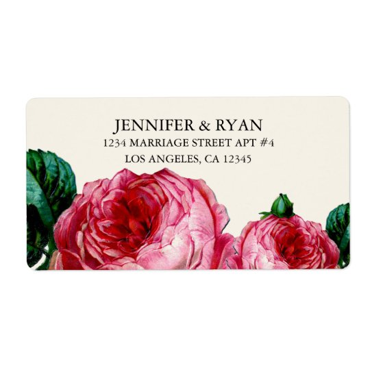 VINTAGE FLORAL DECOUPAGE RETURN ADDRESS LABELS