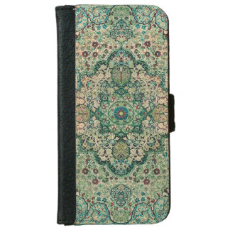 Vintage Floral Design Persian Carpet Motive iPhone 6 Wallet Case
