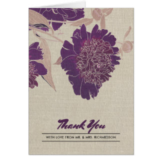 Vintage Floral Design Thank You Wedding Photocards Card