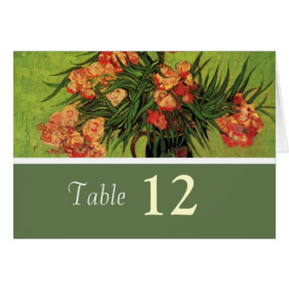 Vintage floral dinner table number card.