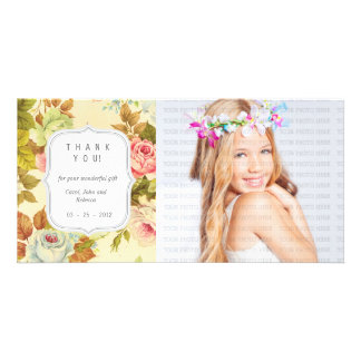 Vintage Floral Dreams - Any Occasion Thank you Card
