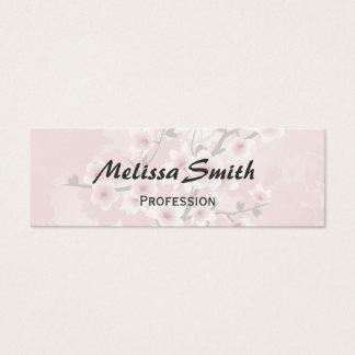 Vintage Floral Dusky Pink Cherry Blossoms Mini Business Card