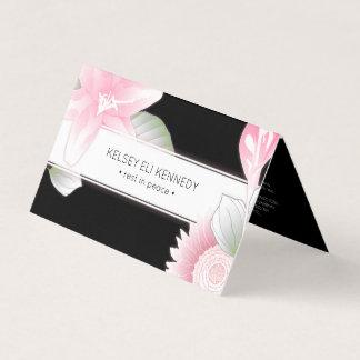 vintage floral elegance rest in peace folded card