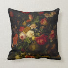 Vintage Floral Elegant Art Pillow