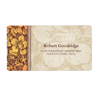 Vintage Floral elements Custom Return Address Labe