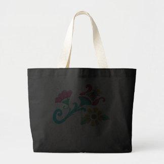 Vintage Floral Embroidery Tote Jumbo Tote Bag