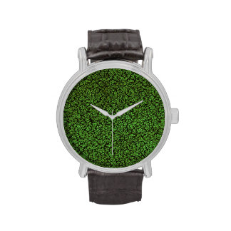 Vintage Floral Emerald Green Flowers Wristwatches
