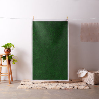 Vintage Floral Emerald Green Leaf Fabric