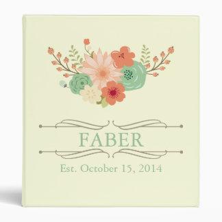 Vintage Floral Family Keepsake Vinyl Binders