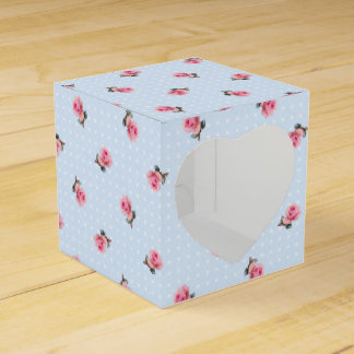 Vintage floral favor box