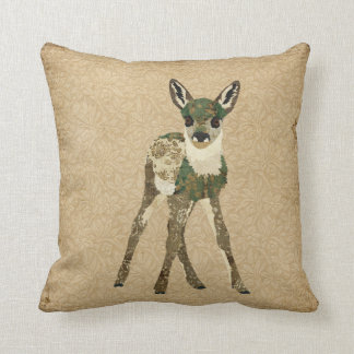 Vintage Floral Fawn Mojo Pillow