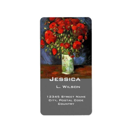 Vintage floral fine art  address labels. label