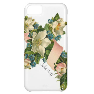 Vintage Floral Flower Cross illustration -iPhone 5 Case For iPhone 5C