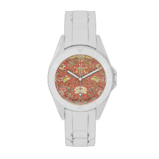 Vintage Floral Flower Pattern Wristwatch