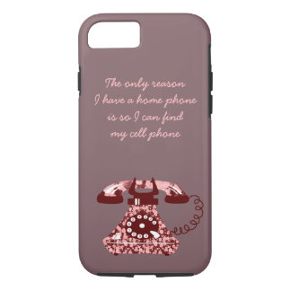 Vintage Floral Funny Phone Chic Retro Stylish Lady Case-Mate iPhone Case