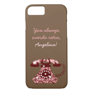 Vintage Floral Funny Phone Chic Retro Stylish Lady iPhone 8/7 Case