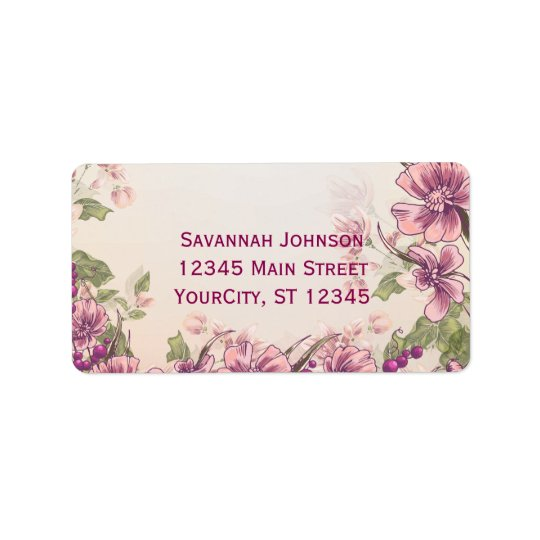 Vintage Floral Garden Custom Address Labels