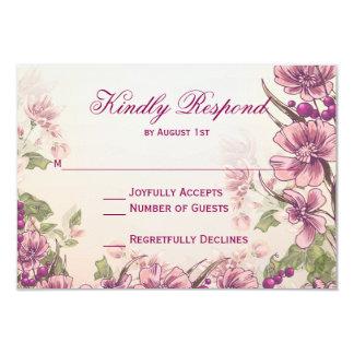 Vintage Floral Garden Wedding RSVP Cards
