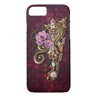 Vintage Floral Girly Steampunk Case-Mate iPhone Case