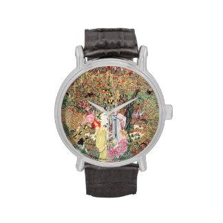 Vintage Floral Goddess Wrist Watch