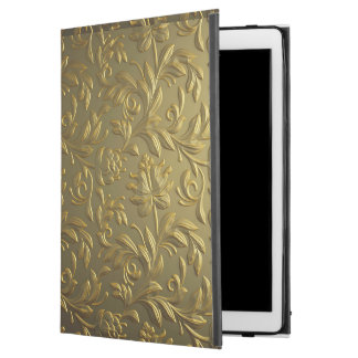 "vintage,floral,gold,elegant,chic,beautiful,antique iPad pro 12.9"" case"