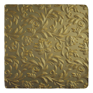 vintage,floral,gold,elegant,chic,beautiful,antique trivet