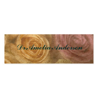 Vintage,floral,grunge,victorian,girly,trendy,chic Pack Of Skinny Business Cards