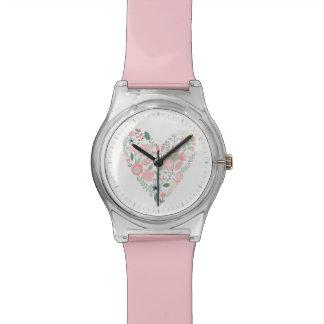 Vintage Floral Heart Wristwatch