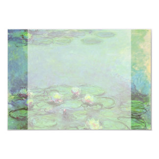 "Vintage Floral Impressionism, Waterlilies by Monet 3.5"" X 5"" Invitation Card"