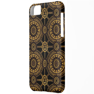 Vintage Floral in Gold and Black iPhone 5C Cover