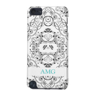 Vintage Floral Lace in black Pattern iPod Touch (5th Generation) Cases