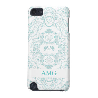 Vintage Floral Lace in Teal Pattern iPod Touch (5th Generation) Case