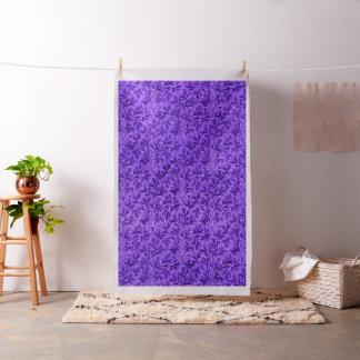 Vintage Floral Lace Leaf Amethyst Purple Fabric