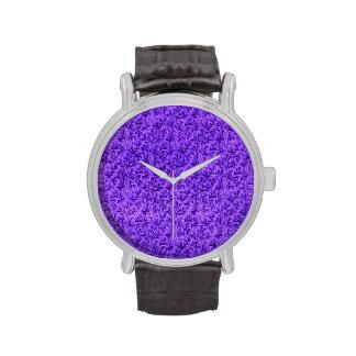 Vintage Floral Lace Leaf Amethyst Purple Wristwatch
